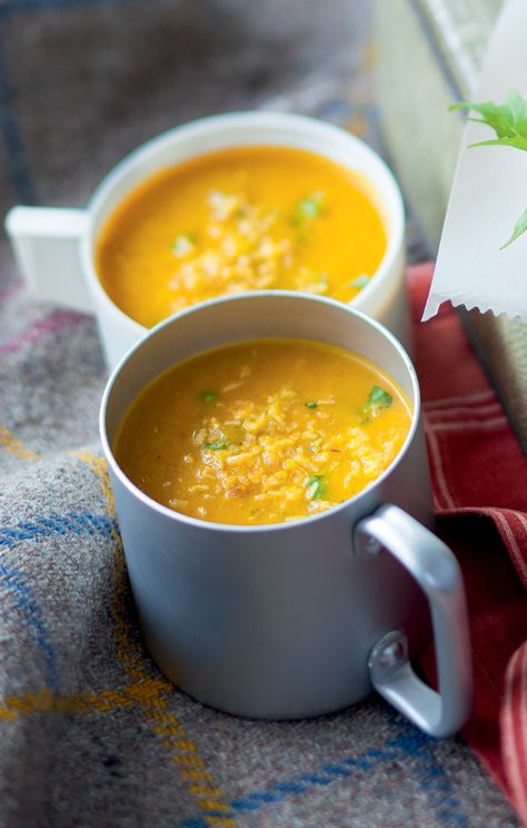 Curried carrot & coconut soup - November 2014