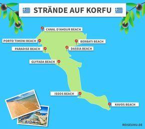 Korfu Strande Korfu Strande Korfu Und Korfu Urlaub