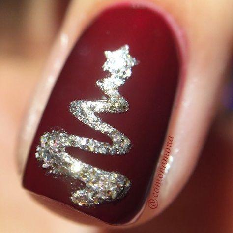 Ribbon Tree Stencils for Nails, Christmas Nail Stickers, Nail Art, Nail Vinyls - Medium (20 Stickers & Stencils) : Beauty