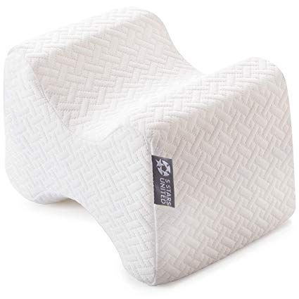 Amazon Com Knee Pillow For Side Sleepers 100 Memory Foam Wedge Contour Leg Pillows For Sleeping Spacer Cushi Knee Pillow Leg Pillow Side Sleeper Pillow