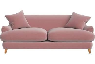 Debenhams 3 Seater Velvet Archie Sofa Pink Pink Sofa Sofa