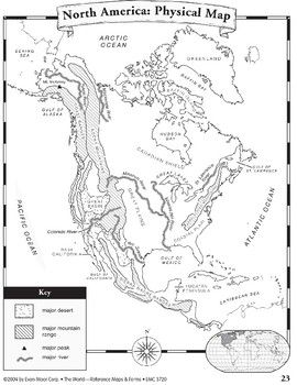 North America: Maps & Forms | Maps | North america map ...