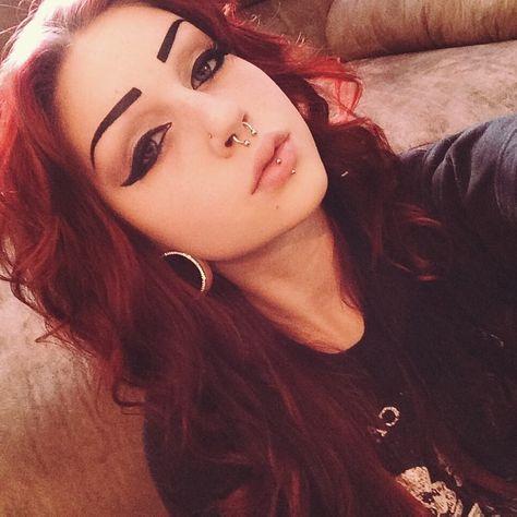 Red Hair | Goth | Alternative | Piercings