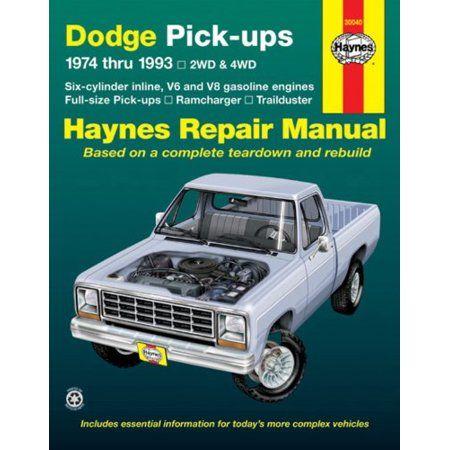1974 thru 1993 Dodge Full-Size Pickups