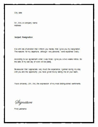 Two Weeks Notice Template Word Best Of Sample Letter Of Resignation With Notice Resignation Lett Letter Template Word Resignation Template Resignation Letter