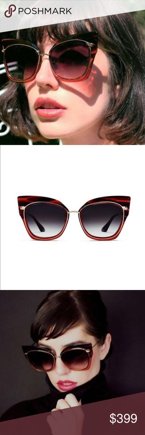 0638d1846c40 DITA STORMY 22033-D Red Gold Crystal Sunglasses DITA STORMY 22033-D Red  Black
