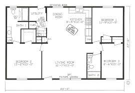 Image Result For Floor Plan 3 Bedroom 2 Bath 44x28 Rectangle House Plans Open Floor House Plans Bedroom Floor Plans