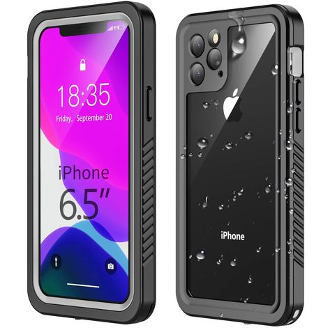 iPhone 11 Pro Max Built In Screen Protector Waterproof Cover Full