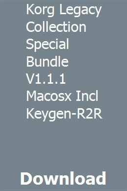 Korg Legacy Collection Special Bundle V1 1 1 Macosx Incl Keygen-R2R