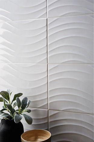 Decor Catanzaro Blanc Brillant Laine De Verre Decoration Plaque De Platre Ba13
