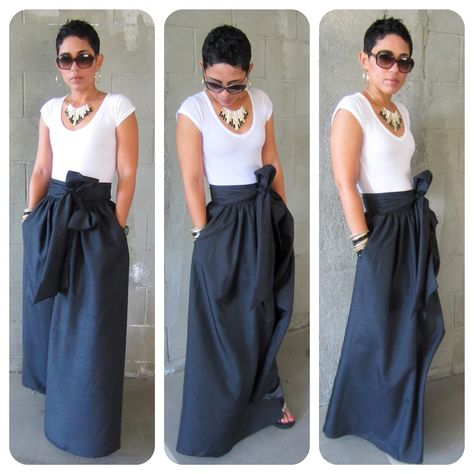 DIY Maxi Skirt.....AGAIN |Fashion, Lifestyle, and DIY #skirtwithpockets !