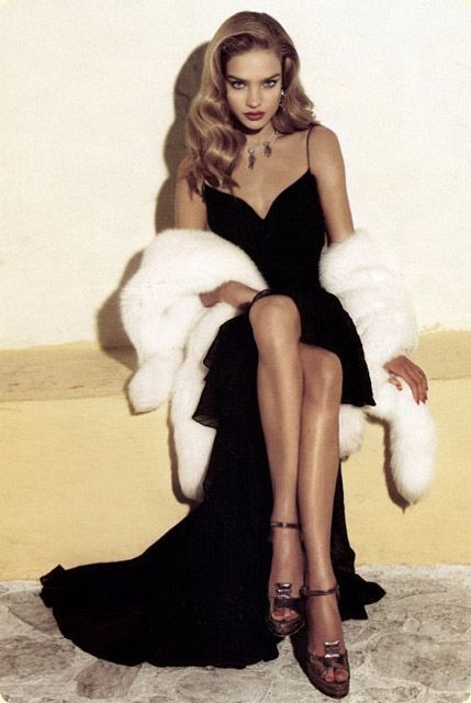 Fur | old Hollywood glamour #topshoppromqueen                                                                                                                                                     More