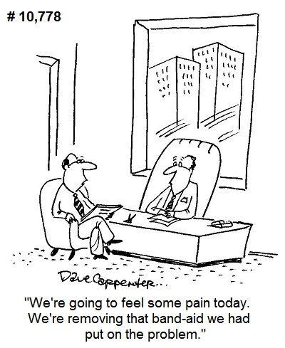 Business Cartoons Cartoons By Dave Carpenter In 2021 Business Cartoons Band Aid Cartoon