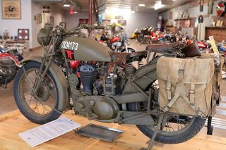 1940 Bsa M20 Military Model On Display At The St Francis Motorcycle Museum Kansas Military Motorcycle Motorcycle Museum Motorcycle