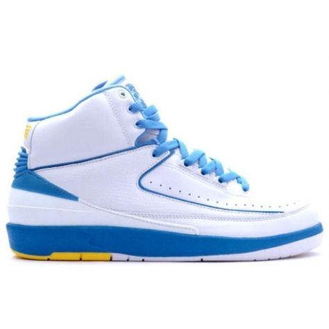 6be4de346a84 Air Jordan 2 (II) Retro Carmello Anthony (Melo) White University Blue  Varisty Maize 308308-141  58
