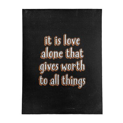 East Urban Home Love Inspirational Quote Chalkboard Style Poly Chenille Rug Tough Times Quotes Love Wisdom Quotes Finding Yourself Quotes
