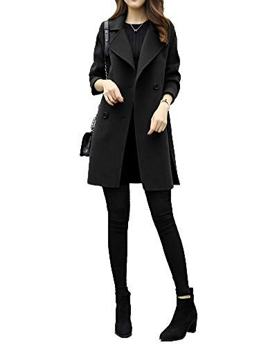 sneakers for cheap 008d6 9ad34 PengGengA Donna Lungo Cappotto Giacche Manica Lunga Cardigan ...