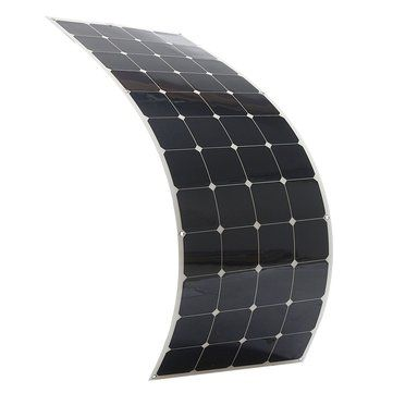 Elfeland Sp 29 150w 24v 1570 540mm Sunpower Flexible Solar Panel Front Rear Junction Box 1 5m Cable