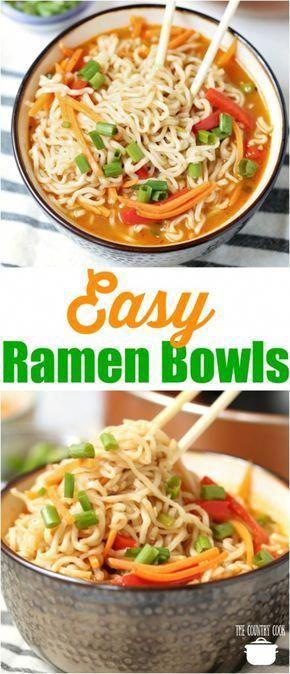 Easy Ramen Noodle Bowls Recipe Noodle Recipes Easy Easy Ramen Noodle Bowls Recipes
