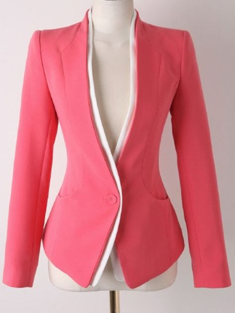 SheIn offers Red Long Sleeve Single Button Slim Blazer & more to fit your fashionable needs.