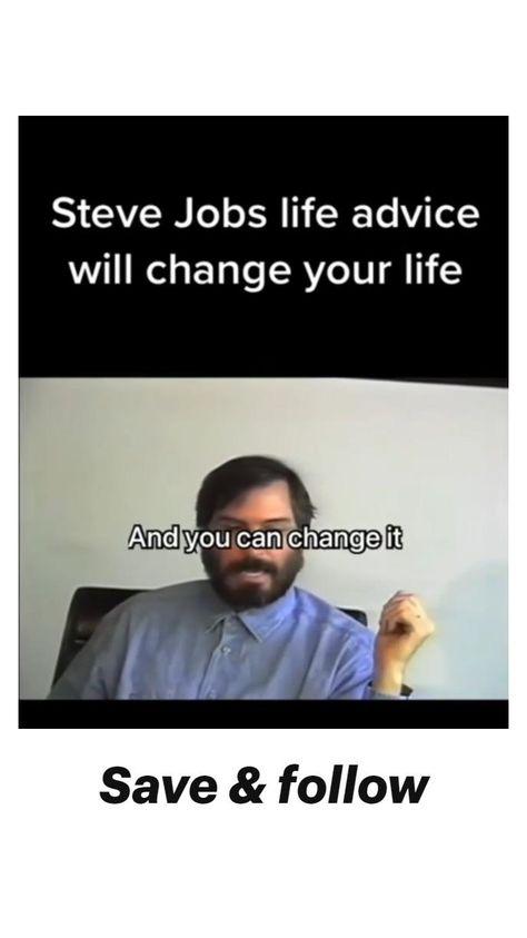 Life changing advice by Steve jobs - Best motivational speech by Steve jobs