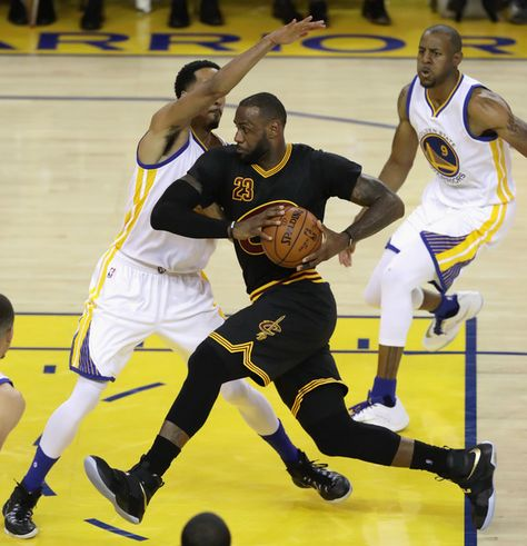 LeBron James Photos - LeBron James #23 of the Cleveland Cavaliers drives to the basket during the second half against the Golden State Warriors in Game 5 of the 2016 NBA Finals at ORACLE Arena on June 13, 2016 in Oakland, California. NOTE TO USER: User expressly acknowledges and agrees that, by downloading and or using this photograph, User is consenting to the terms and conditions of the Getty Images License Agreement. - 2016 NBA Finals - Game Five