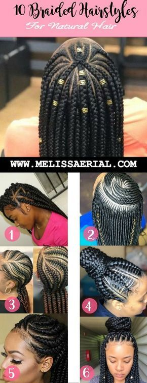 Braid Styles For Natural Hair Growth On All Hair Types For Black Women Hair Styles Natural Hair Styles Braided Hairstyles