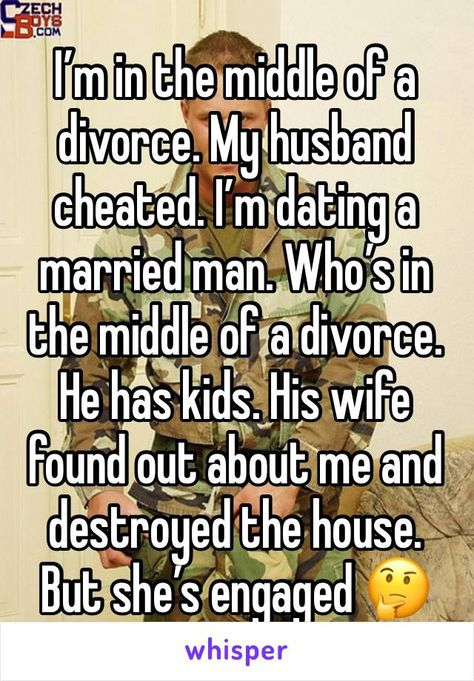 Dating someone in middle of divorce
