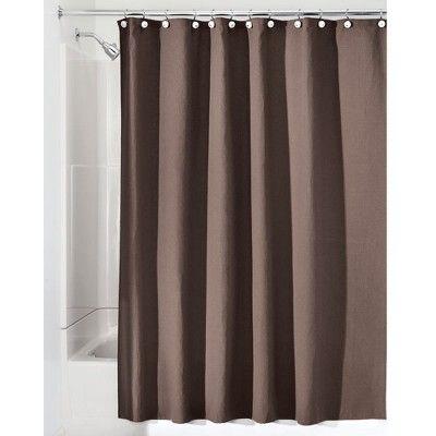 Mdesign Waffle Weave Fabric Shower Curtain 72 Long Chocolate