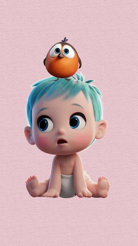 รูปภาพ baby, cartoon, and storks