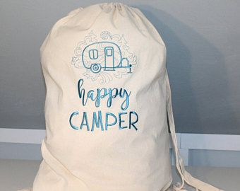 Laundry Bag For Camping Embroidered Laundry Bag Personalized Laundry Bag Monogramm Personalized Laundry Bag Monogrammed Laundry Bag Camping Bag