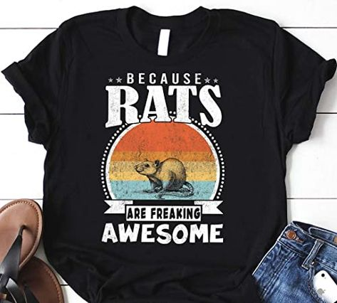 Vintage RAT Shirt, RAT Lover Shirt, Because RATS Are Freaking Awesome, Funny RAT Shirt For Man & Woman