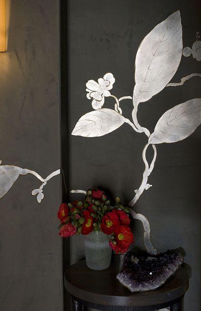 Silver On Venetian Plaster By San Francisco Artist Linda Horning
