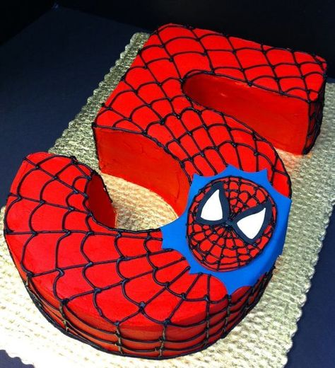 Spiderman birthday cake (you could change the number to a different one) perfect superhero party idea More - Visit to grab an amazing super hero shirt now on sale! Spider Man Party, Spider Man Cakes, Spiderman Birthday Cake, Superhero Cake, Superhero Party Food, Spiderman Kids, 3rd Birthday, Birthday Parties, 5th Birthday Ideas For Boys