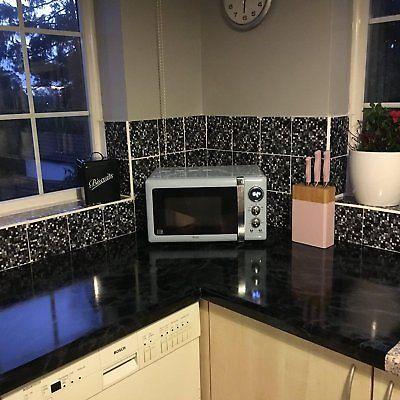 Black Marble Kitchen Worktop Covering Vinyl Self Adhesive