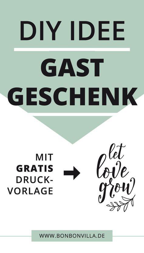#hochzeit #diy #idee #gastgeschenk #letlovegrow #druckvorlage