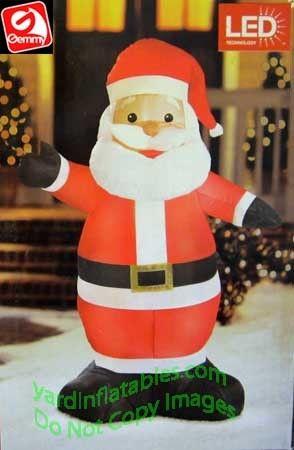 4' Santa Waving Black Mittens