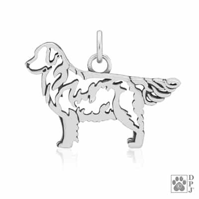 Sterling Silver Golden Retriever Dog Breed Jewelry Golden