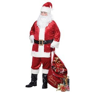 Adult Light Up Christmas Hat /& Stars Santa Dress Up Festive Stocking Red Felt