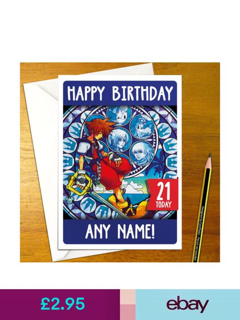 Sora Kingdom Hearts Personalised Birthday Card A5 Donald Goofy