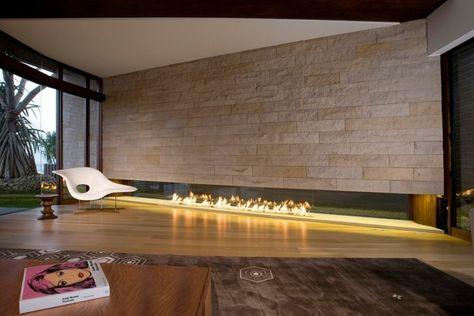 kamin design lang offene feuerstelle wohnzimmer | Möbel ...