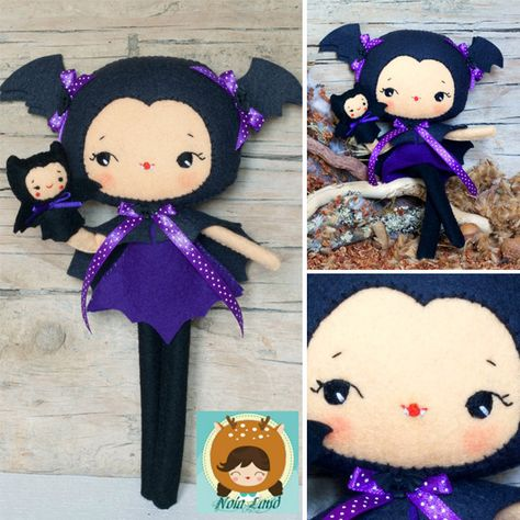 Bat Girl Felt Doll Sewing Pattern!