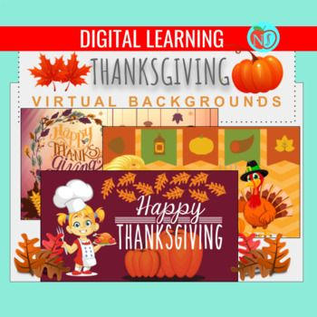 Thanksgiving Virtual Backgrounds 15 Thanksgiving Theme Backgrouds For Zoom In 2020 Thanksgiving Theme Holiday Banner Classroom Learning