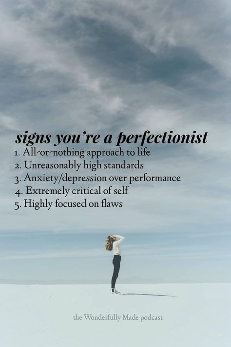 """Get free by opening up your mind to the possibility of growth instead of perfection. You're so much more than striving for no flaws. Listen to the whole episode on Wonderfully Made called """"Breaking Free from Perfectionism"""