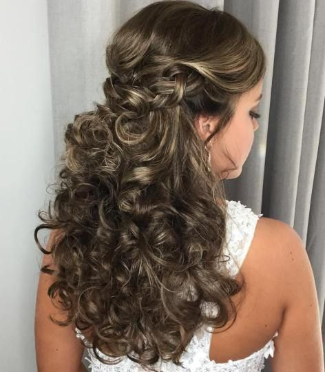 20 Soft And Sweet Curly Wedding Hairstyles Curly Wedding Hair Wedding Hairstyles For Long Hair Hair Styles