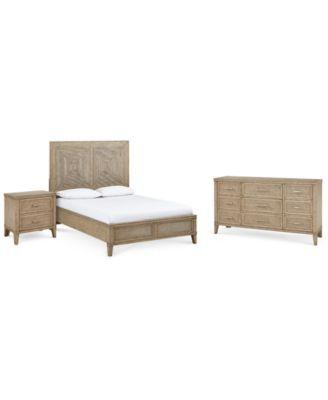 Beckley Bedroom Furniture 3 Pc Set King Bed Nightstand Dresser Created For Macy S Bedroom Sets Furniture King King Bedroom Sets Bedroom Furniture Sets