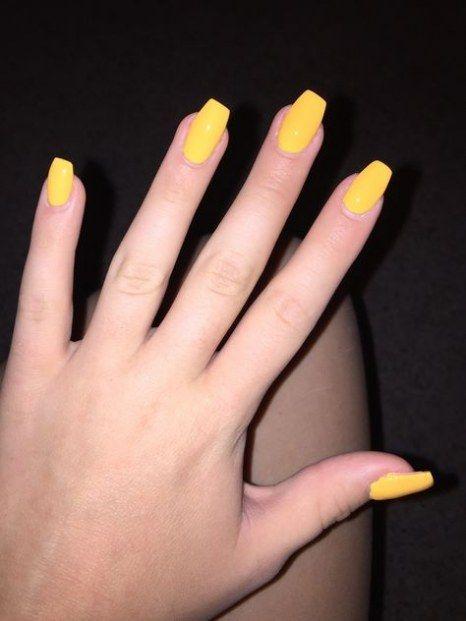 Best nails coffin yellow short 49+ ideas