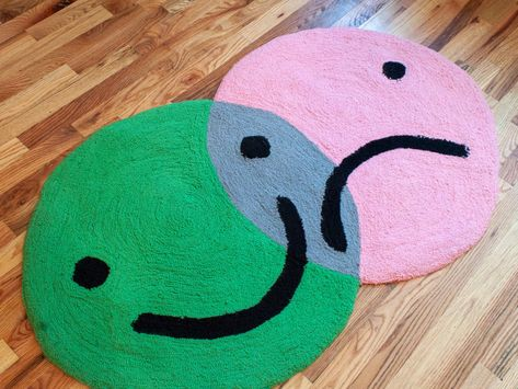 Basket Case Green Day, Additive Color, Latch Hook Rugs, Rug Inspiration, Aesthetic Room Decor, Hand Tufted Rugs, Small Rugs, My New Room, Rug Making