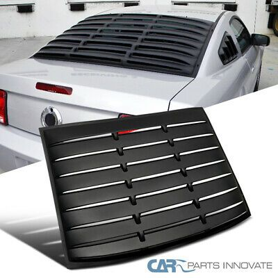 Details About For 05 14 Mustang Gt V6 V8 Matte Black Abs Rear Window Louver Sun Shade Cover In 2020 Shade Cover Ford Mustang Coupe