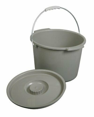 Commode Pail With Lid 1 Count Bucket With Lid Durable Medical Equipment Commode